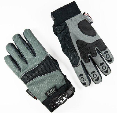 Aero Sport® Aero ShieldTM 3M® Scotchlite-Thinsulate® Hi-Visibility Windbreaker Waterproof Glove Grey Medium