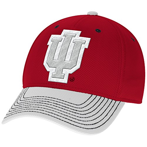 adidas NCAA Indiana Hoosiers Men's Two-Tone Structured Flex Cap, Small/Medium, (2 Tone Ncaa Cap)