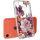 CYRILL Ciel [Cecile Collection] Flower Protective Case Designed for Apple iPhone XR Case (2018) - Rose Floral