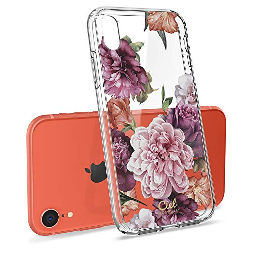 CYRILL Ciel [Cecile Collection] Flower Protective Case Designed for Apple iPhone XR Case (2018) - Rose Floral (Iphone Flower Apple)