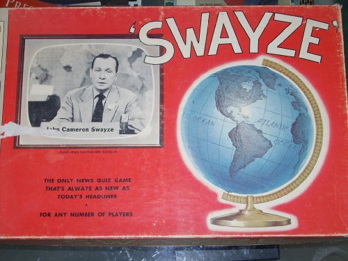 Swayze  1954 Board Game  The Only News Quiz Game Thats Always As New As Todays Headlines  Cbs John Cameron Swayze  Milton Bradley