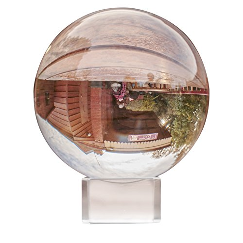 Feng Shui Office Decor (Crystal Ball - Clear Crystal Ball 80MM with Stand and Box - K9 Crystal Ball, Photography Balls, Meditation Crystals Ball, Quartz Healing Crystal,Feng Shui- Home & Office Decorations)