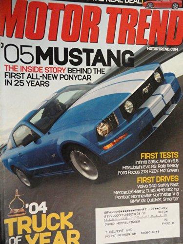 2005 Ford Mustang / 2005 Chevy Chevrolet Corvette / 2004 Chevy Colorado / 2004 Chevy SSR / 2004 Dodge Ram SRT-10 / 2004 Ford F-150 / 2004 GMC Canyon / 2004 Nissan Titan / 2004 Toyota Tundra Road Test