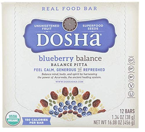 Dosha Bar Unsweetened Fruit & Seed Bars, Blueberry Balance ...