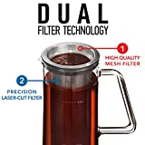 Airtight Cold Brew Coffee Maker - 1 Quart Sealing Iced Coffee Maker - Glass Pitcher with Removable Filter