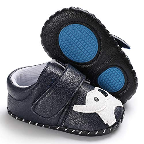 s Shoes Cartoon Crawling Slippers Soft Moccasins Toddler Infant Crib Pre-Walkers Sneakers First Walkers Shoes (12-18 Months M US Infant,A-Navy Elephant) ()