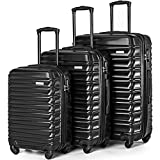 "Merax Afuture Luggage Set Hardside Lightweight Spinner Suitcase 20"" 24"" 28"""