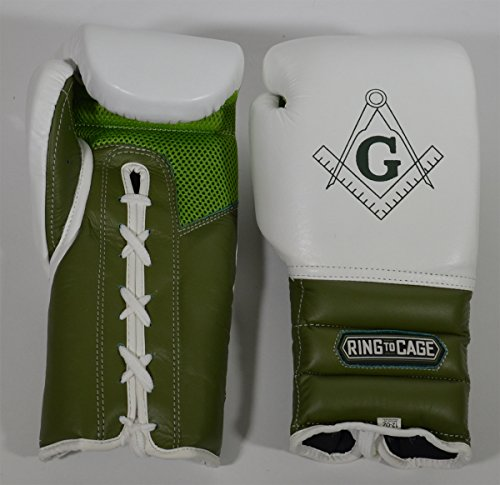 - Japanese-Style Training Boxing Gloves 2.0 - Hook&Loop or Lace Up - 12oz, 14oz, 16oz, 18oz - 45 Colors to Choose (Mexican Training Gloves Mesh Palm White/Marine Green, 12oz Lac-up)