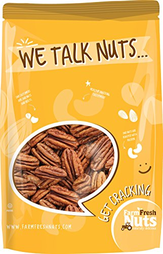PECANS Dry Roasted Unsalted - Small batch roasted - BRAND NEW PRODUCT Farm Fresh Nuts ((2 LB)
