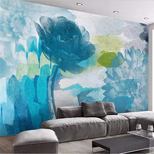 Weaeo モダンなミニマリストの抽象的な水彩の花のテレビの壁の壁のカスタム大きな壁画の緑の壁紙-350X250Cm B07H6DZ1R4 350X250CM 350X250CM