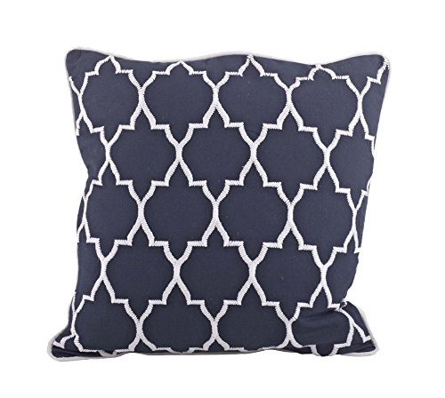 Stitched Moroccan Down Filled Decorative Throw Pillow, 18-in