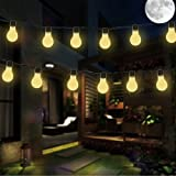 Best Solar String Lights - Solar Globe String Lights with Clear Bulbs,DINOWIN Waterproof Review