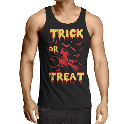 lepni.me Vest Trick or Treat - Halloween Witch - Party outfites - Scary Costume (Medium Black Multi Color) ()