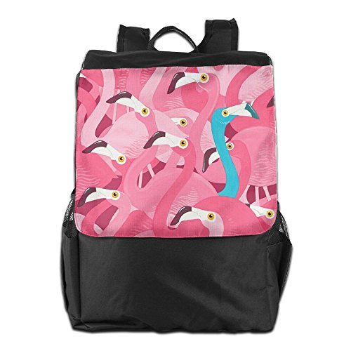 Backpack And Storage Strap Dayback Women Blue For Camping Men HSVCUY And Adjustable Flamingos Travel Pink Outdoors Personalized Shoulder School En0xqOpCg