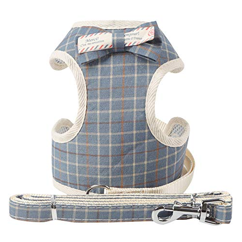 Pet Dog Chest Strap Retro Striped Pattern Neck Bow Tie Chest Belt Comfort Padded Vest Dog Shirt Puppy Pet Small Dog Clothes,Wedding Shirt Formal Tuxedo with Tie,Dog Prince