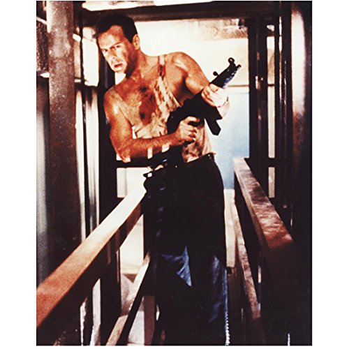 Bruce Willis 8x10 Photo Die Hard Moonlightling A Good Day to Die Hard walking w weapon DC (A Good Day To Die Hard Actress)