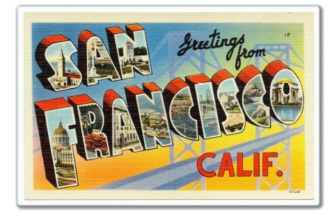 Greetings from San Francisco Vinyl Sticker - Car Phone Helmet - SELECT SIZE