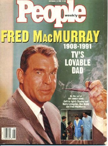 People Weekly November 18 1991 Fred MacMurray/My Three Sons on Cover, David Duke, Joseph Papp, Janine Turner & Rob Morrow/Northern Exposure, Ursula LeGuin, Kid