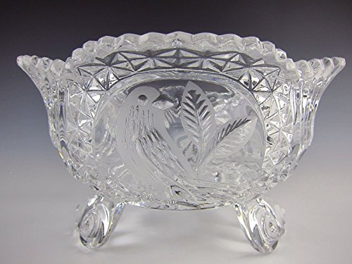 - Hofbauer Crystal THE BYRDES COLLECTION 3 Toed Footed Bowl