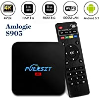 Puersit AndroidTV Box with WIFI Quad Core 4k WIFI Tv Box Q2 Pro Amlogic S905 HD 1080P Core-A53 ,H.265
