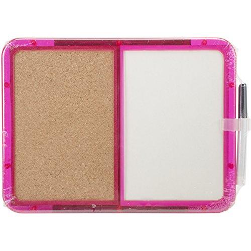 Memo Board - Half Cork and Half Dry Erase - Assorted Color