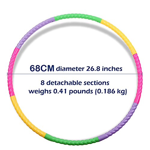 27-inch Hula Hoop for Kids Detachable Adjustable size Exercise Dance Gymnastics Game Circle