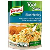 Treat your taste buds with Knorr Rice Sides Rice Medley (5.6oz). Our rice & pasta blend expertly combines rice, pasta, peas and carrots for a savory dish. Our deliciously seasoned Rice Sides are great as part of a delicious main dish or a...