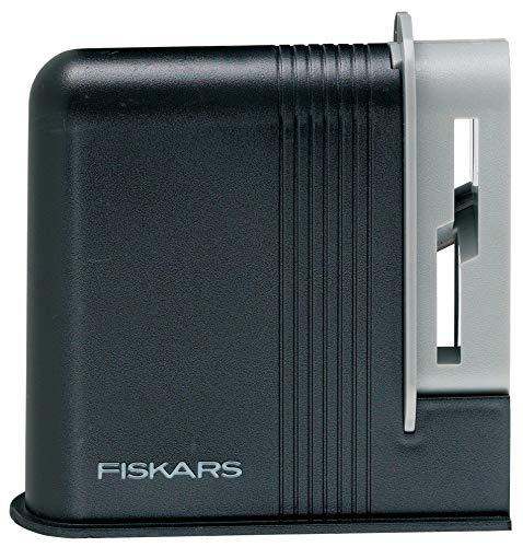 Fiskars 6411501960078 Clip-Sharp, Total Length: 4 cm, Plastic, 1000812 Scissors Sharpener one size Black