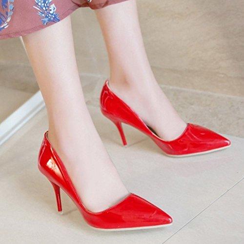 Donna 8cm Formale Col 6 Red Heels Scarpe Tacco Zanpa Colors FdqAwd
