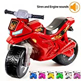 KIDZEÜG Push Bike Balance Ride-on - for Toddlers and Kids 2-5 Years Old Plastic Bike Outdoor, Indoor Stroller Toy Motorcycle 2 Wheel Walking Activity Trainer Lightweight Washable