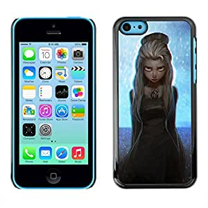 Slim Design Hard PC/Aluminum Shell Case Cover for Apple Iphone 5C Girl Fairy Blonde Princess Art Painting Stars / JUSTGO PHONE PROTECTOR