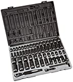 Grey Pneumatic 81259CRD 3/8'' Drive 59pc Standard/Deep Length Fractional and Metric Duo-Socket Set - 12