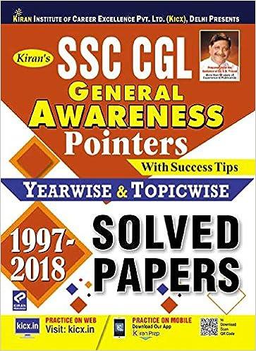 SSC CGL General Awareness Pointers Solved Papers (1997 - 2018) English - byPratiyogita Kiran Kiran Prakashan