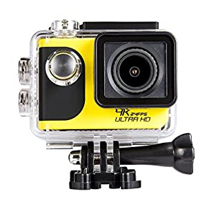 ViiVor 4K Waterproof Sports Action Camera With WiFi 2.0 Inch LCD Screen 1050mAh Battery IP65 up to 30 m Bike Helmet Camera Underwater Camera DVR Camcorder from ViiVor