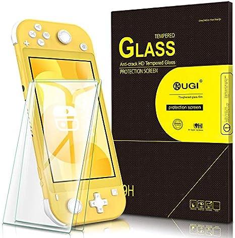 KuGi para Nintendo Switch Lite Protector de Pantalla, Cristal Templado [9H Dureza] [Alta Definicion] Protector de pantalla Diseñado para Nintendo Switch Lite (Paquete de 2): Amazon.es: Videojuegos
