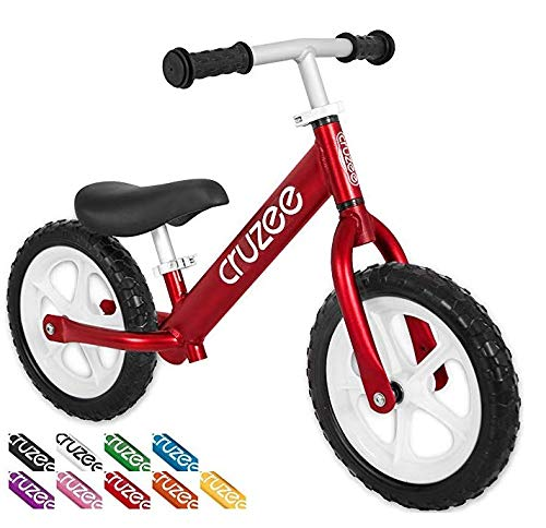 (Cruzee Ultralite Balance Bike (4.4 lbs) for Ages 1.5 to 5 Years | Red - Best Sport Push Bicycle for 2, 3, 4 Year Old Boys & Girls– Toddlers & Kids Skip Tricycles on The Lightest First Bike)