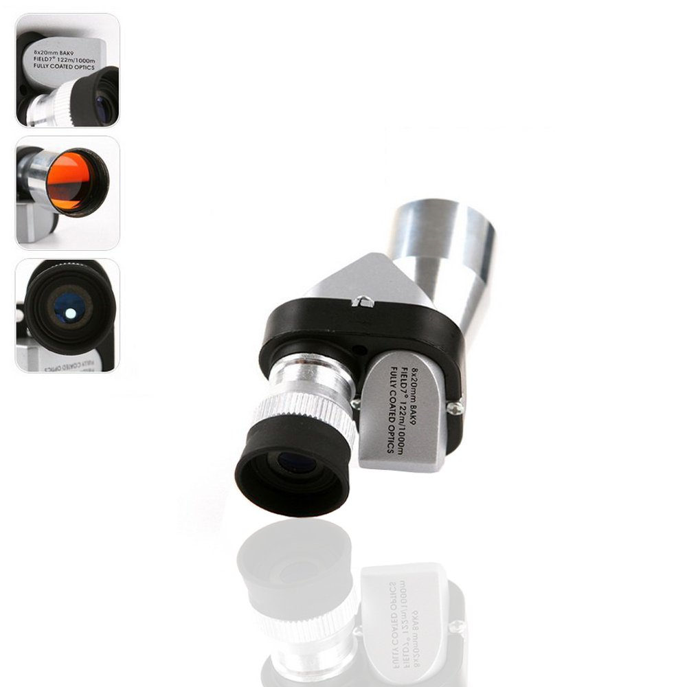 szyrc-miniポケット8 × 20シルバーメタルMonocular望遠鏡接眼レンズ、科学bird-watchingのWilderness Expedition、旅行、アウトドアスポーツ機器、時計ライブGame   B072MR9JHG