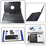 """JoyiQi Black plastic clamshell notebook case with stand and bluetooth wireless keyboard for iPad mini 7.9"""" inch Macbook-like NEW"""