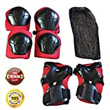 Kids Knee Pads, Knee Pads for Kids,  Elbow Pads, Wrist Guards with Adjustable Straps for Hoverboarding, Scootering, Biking and Roller Skating, Skateboarding