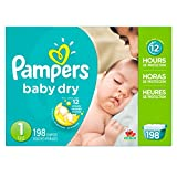 Health & Personal Care : Pampers Baby Dry Diapers, Size 1, 198 Count