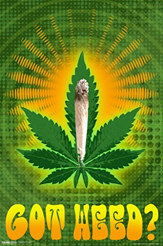 Got Weed Marijuana Leaf Joint Psychedelic Trippy Vintage 70s Weed Dope Mary Jane 420