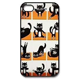 Yoga Cats Use Your Own Image for Iphone 4,4S,customized case cover ygtg573037