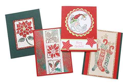Darice Blank Cards and Envelopes - Red, Green - 4 x 5-50 pcs ()