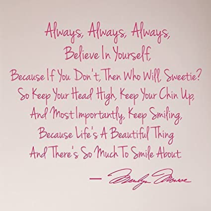 Amazoncom 27x24 Always Always Always Believe In Yourself Keep