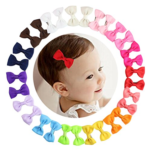 15 Pairs Tiny Baby Girls Grosgrain Ribbon Hair Bows Clips for Toddlers Kids 2#039#039 Hair Bows with Alligator Clips