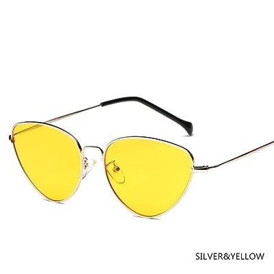 IN THE DISTANCE Gafas de Sol Mujer Cat Eye Gafas de Sol Gafas de diseñador de Marca for Damas Retro Vintage Mirror Full Frame Black Eyewear (Lenses Color : M): Deportes y aire libre