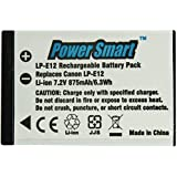 Power Smart 875mah, Replacement for Canon Lp E12 Rechargeable Li ion Battery