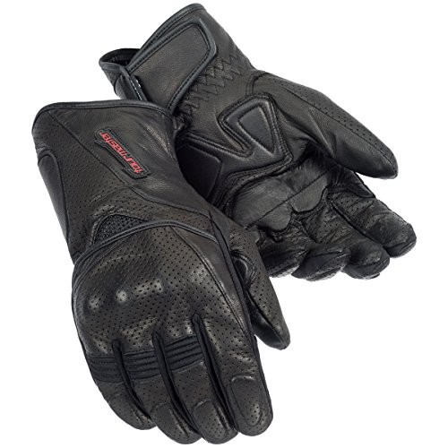 Tour Master Dri-Perf Men's Textile Street Racing Motorcycle Gel Gloves - Black / (Tour Master Motorcycle Glove)