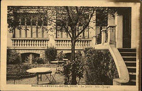 Les Jardins Avec Salle A Manger, Bristol-Crystal-Hotel Reims, France Original Vintage Postcard ()