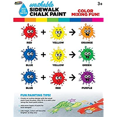 Mattel RoseArt Washable Sidewalk Chalk Paint 2ct Neon ORN/blu: Toys & Games